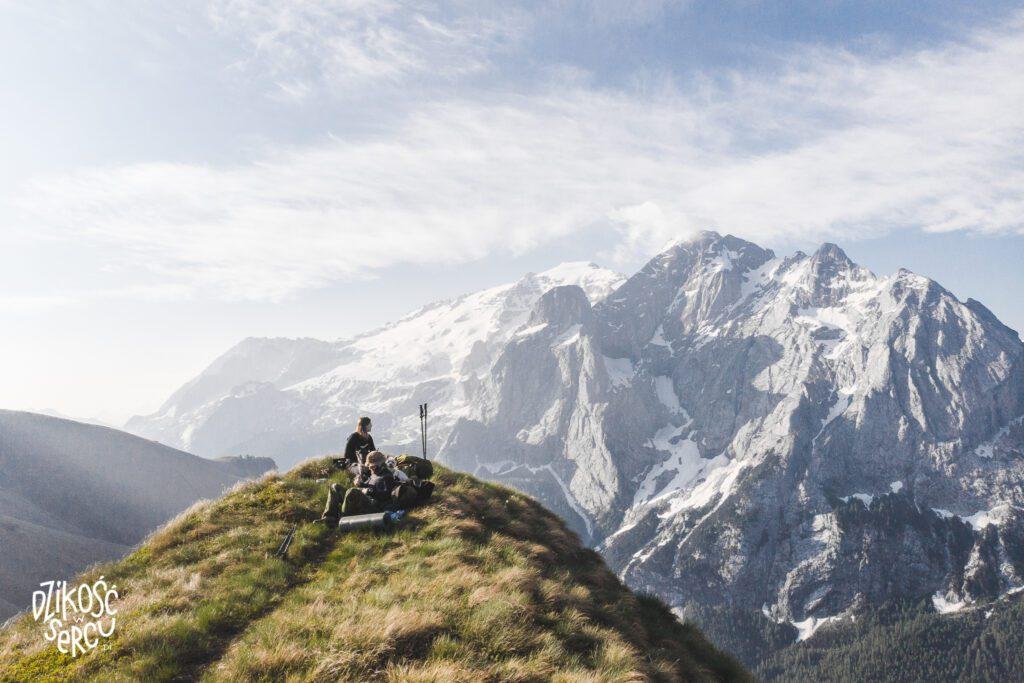 Dolomity z psem, Marmolada, góry wysokie z psem