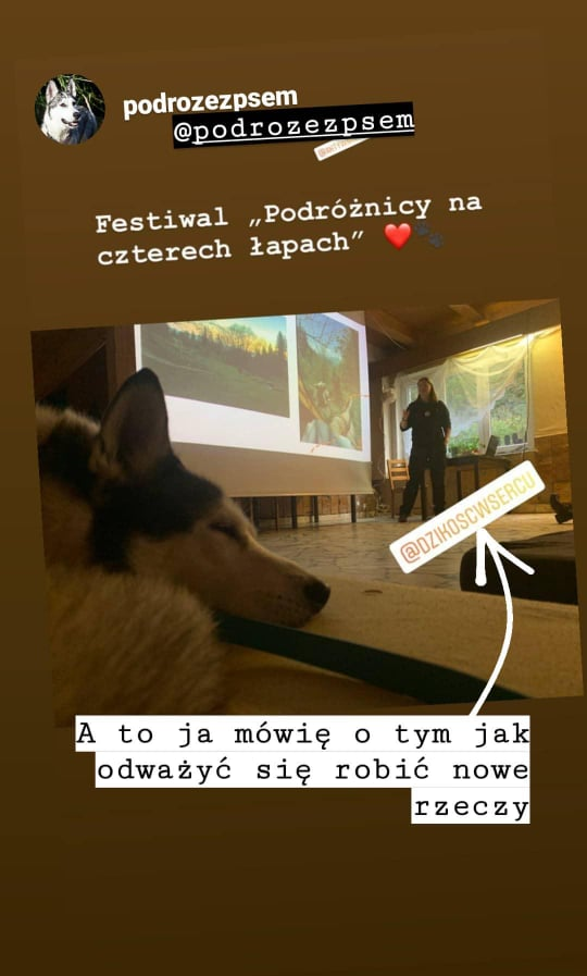 Prelekcja podczas I Festiwalu Podróżnicy na Czterech Łapach